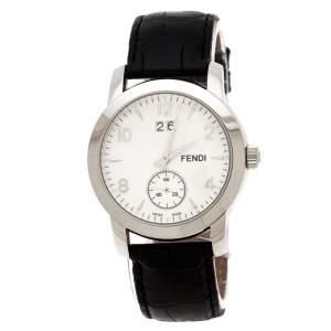 Fendi White Stainless Steel Orologi 2100G Men's Wristwatch 36 mm