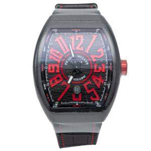 Franck Muller Black Vanguard  Stainless Steel Automatic Men's Wristwatch 44 MM