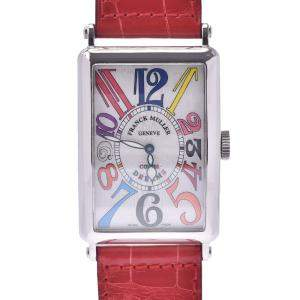 Franck Muller White Stainless Steel Long Island Color Dreams 1200SC Automatic Men's Wristwatch 31 MM