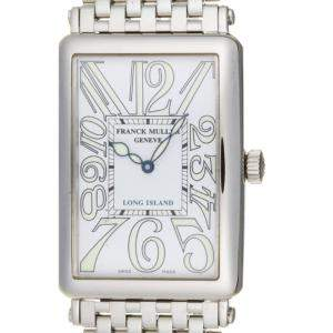 Franck Muller White Stainless Steel Long Island Japan Limited 1150SC Men's Wristwatch 33 MM