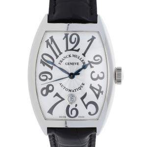 Franck Muller Silver Stainless Steel Cintree Curvex 8880 B SC DT AC Men's Wristwatch 39 x 47 MM