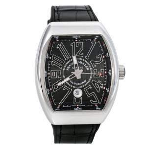 Franck Muller Black Stainless Vanguard V 45 SC DT AC NR Men's Wristwatch 44 mm