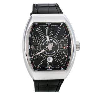 ساعة يد رجالية فرانك مولر فان غارد V 45 SC DT AC NR ستانلس ستيل سوداء 44مم