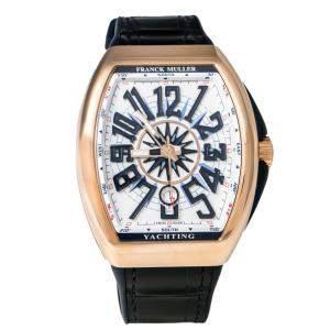 Franck Muller White 18K Rose Gold Yachting 5N BL V 45 SC DT Men's Wristwatch 44 mm