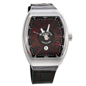 Franck Muller Black Stainless Steel Vanguard V 45 SC DT AC ER Men's Wristwatch 44 mm