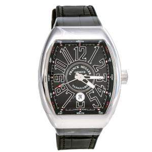 Franck Muller Black Stainless Steel Vanguard V 45 SC DT AC NR Men's Wristwatch 44 mm