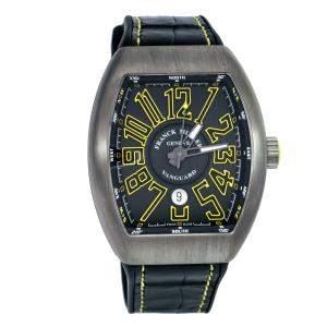 ساعة يد رجالية فرانك مولر فان غاردV 45 SC DT TT BR JA تيتانيوم سوداء 44 مم