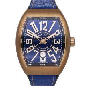 Franck Muller Blue Bronze Titanium Vanguard Limited Edition V45 SC DT BZ BR ICON LTD NR Men's Wristwatch 44 x 53 MM