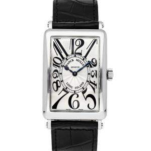 Franck Muller White Stainless Steel Long Island 1000 SC LONG ISLAND Men's Wristwatch 31 x 43 MM