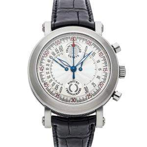 Franck Muller Silver Stainless Steel Bi-Retrograde Chronograph 7000CCBACW Men's Wristwatch 40 MM