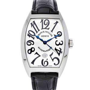 Franck Muller White Stainless Steel Cintree Curvex 8880 B SC DT AC Men's Wristwatch 39 x 47 MM