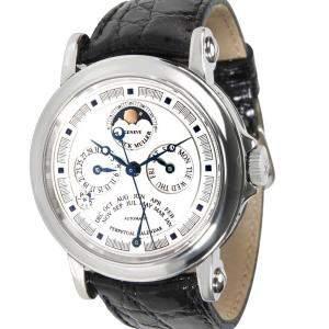 Franck Muller Silver Stainless Steel Perpetual Calendar 7000 QP A Men's Wristwatch 39 MM