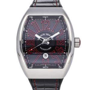 Franck Muller Black Stainless Steel Vanguard V45 SC DT AC RG Men's Wristwatch 44 x 53 MM