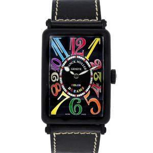 Franck Muller Black PVD Coated Gold Long Island Color Dreams 1200 SC CODR Men's Wristwatch 45 x 32 MM