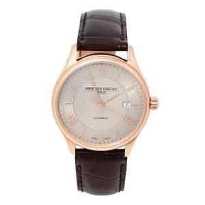 ساعة يد رجالية فريدريك كونستانت كلاسيكس FC-303MLG5B4 أوتوماتيك ستانلس ستيل مطلي ذهب وجلد وردية 40 مم