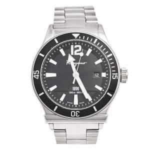 Salvatore Ferragamo Black Stainless Steel 1898 FF3 Men's Wristwatch 43 mm