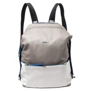 حقيبة ظهر فورلا جلد رصاصية/ زرقاء