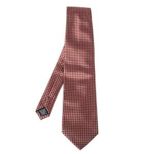 Gianfranco Ferre Bicolor Checkered Silk Jacquard Tie