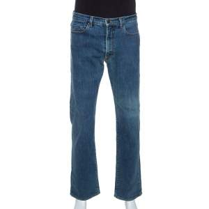 Gianfranco Ferre Blue Denim Straight Leg Jeans L