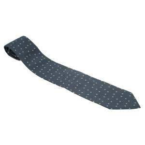 Giorgio Armani Dark Grey Printed Silk Tie