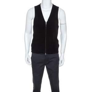 Giorgio Armani Black & Grey Wool Blend Vest L