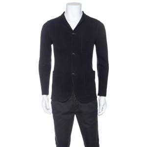 Giorgio Armani Navy Blue Cotton Jacket M