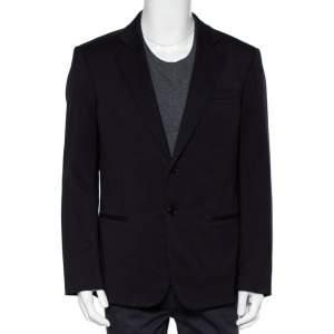 Giorgio Armani Navy Blue Wool Super 150's Button Front Blazer XXL