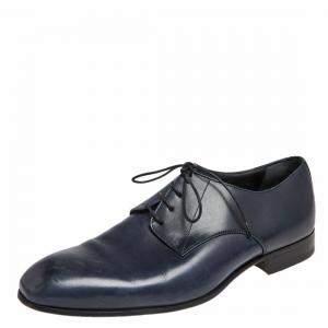 حذاء أكسفورد جورجيو أرماني جلد أزرق مقاس 40