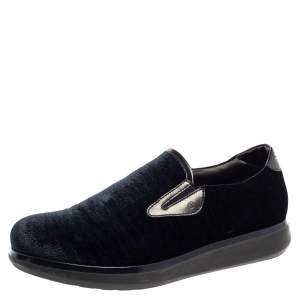 Giorgio Armani Blue Velvet Slip On Sneakers Size 41.5