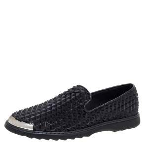 Giuseppe Zanotti Black Studded Rubber Slip On Sneakers Size 44