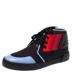 Giuseppe Zanotti Tri Color Canvas and Leather High Top Sneakers Size 45