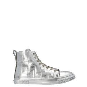 Giuseppe Zanotti Silver Blabber High-Top Sneakers Size EU 43.5