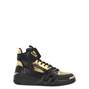 Giuseppe Zanotti Black/Gold Talon High-Top Sneakers Size EU 39