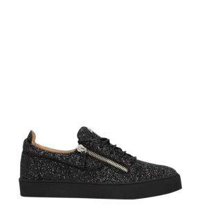 Giuseppe Zanotti Black Glitter Frankie Sneakers Size EU 39.5