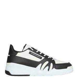 Giuseppe Zanotti White/Black Leather Talon Sneaker Size IT 41