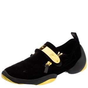 Giuseppe Zanotti Black Velvet Light Jump Lt2 Sneakers Size 43