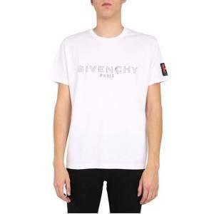 Givenchy White Cotton Logo Print T-Shirt Size L