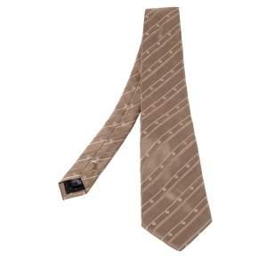 Givenchy Vintage Beige Patterned Silk Jacqaurd Tie