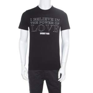Givenchy Black Cotton Power Of Love T-Shirt XS