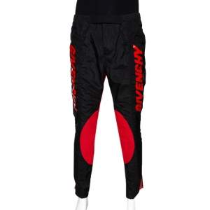 Givenchy Two Tone Logo Print Synthetic Track Pants M