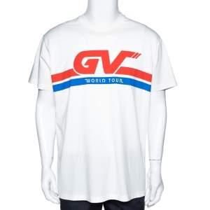 Givenchy Cream Cotton World Tour Print Oversized T Shirt S