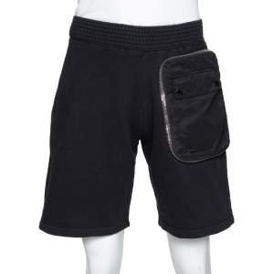 Givenchy Black Cotton Rib Knit Bomber Zip Shorts XS