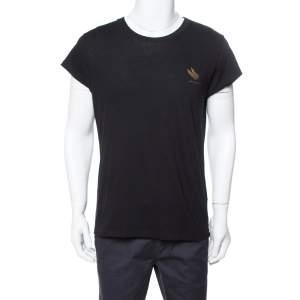 Givenchy Black Flying Cat Print Cotton Rock Fit T-Shirt M
