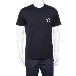 Givenchy Black Cotton Star Print Crewneck T Shirt M