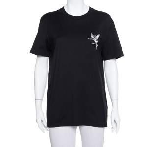 Givenchy Black Cotton Devil Print Crewneck T-Shirt L