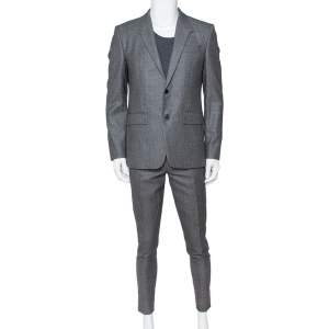 Givenchy Grey Wool Suit L
