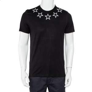 Givenchy Black Star Print Cotton Crewneck T-Shirt S