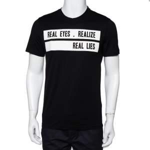 Givenchy Black Cotton Realize Crew Neck T-Shirt S