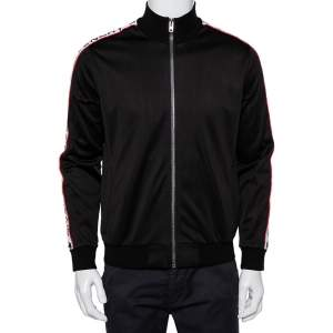 Givenchy Black Jersey Logo Tape Detail Track Jacket M