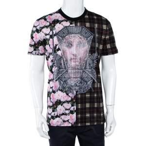 Givenchy Multicolor Tartan Floral Madonna Printed T-Shirt S